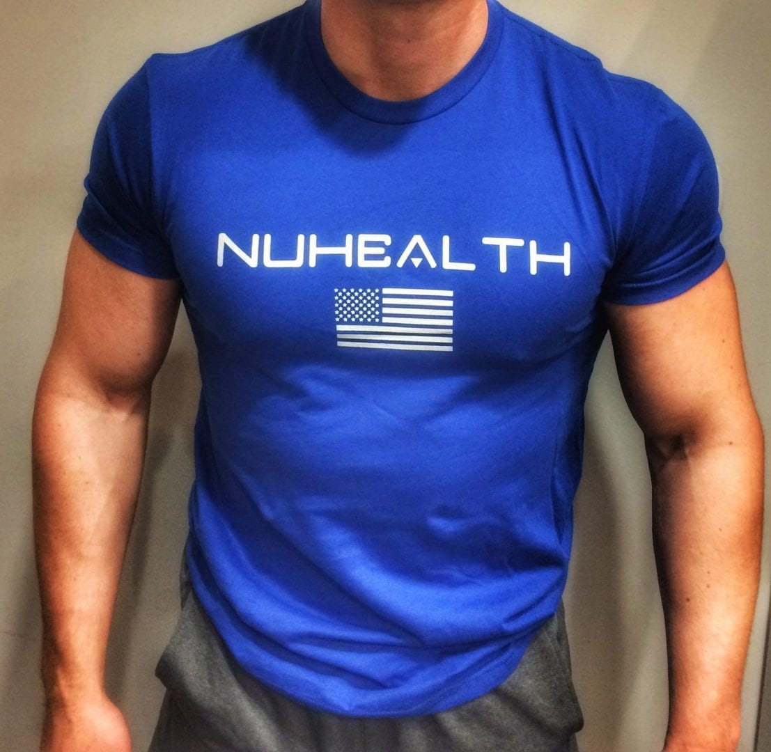 NuHealth America Tee- Blue