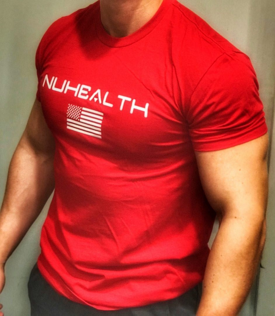 NuHealth America Tee- Red